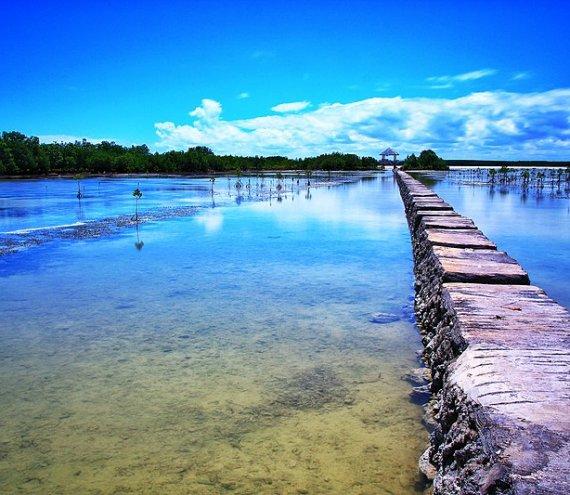 Der Naturschutzgebiet Olango Insel