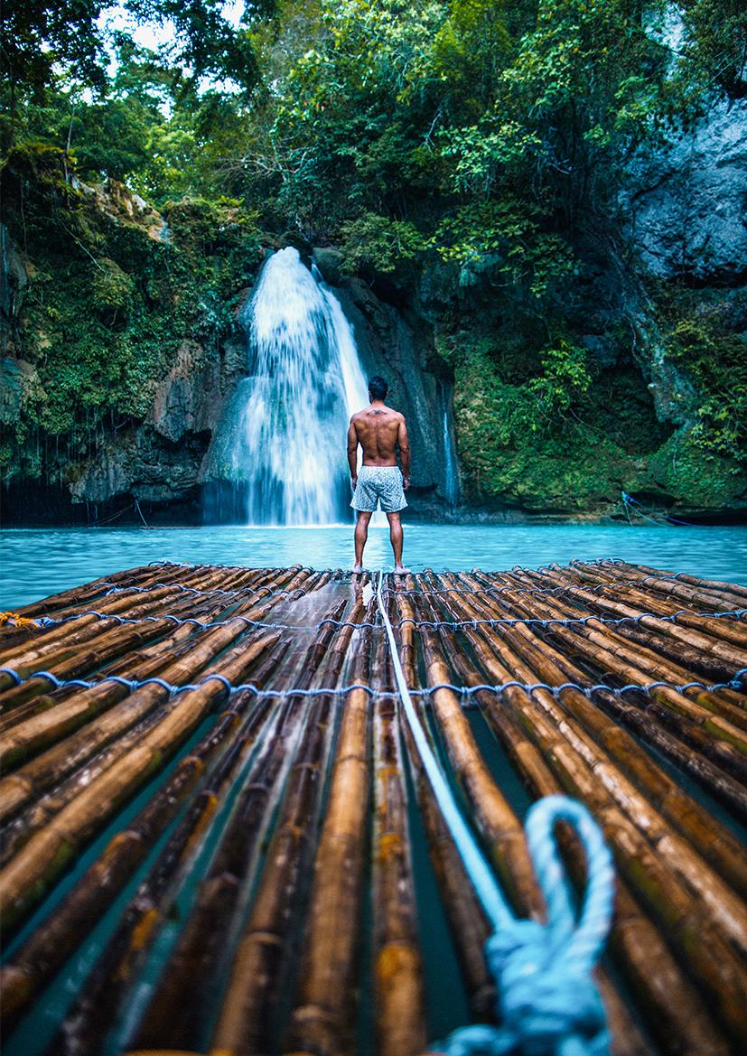 Bambus-Rafting
