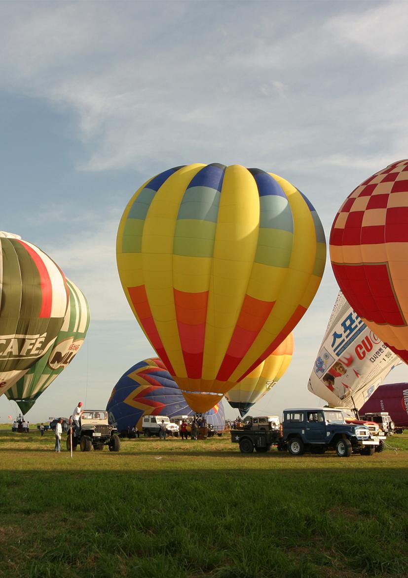 Heißluft Ballonfahren