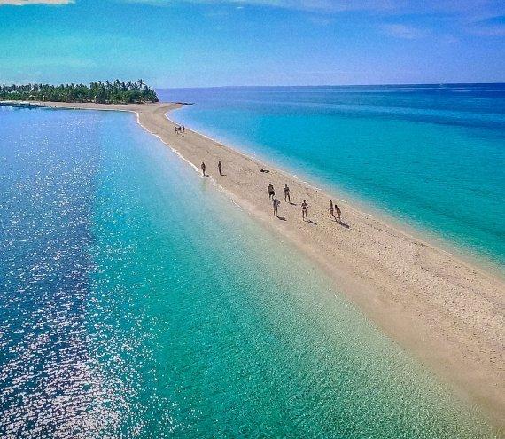 Die kleine Insel Kalanggaman