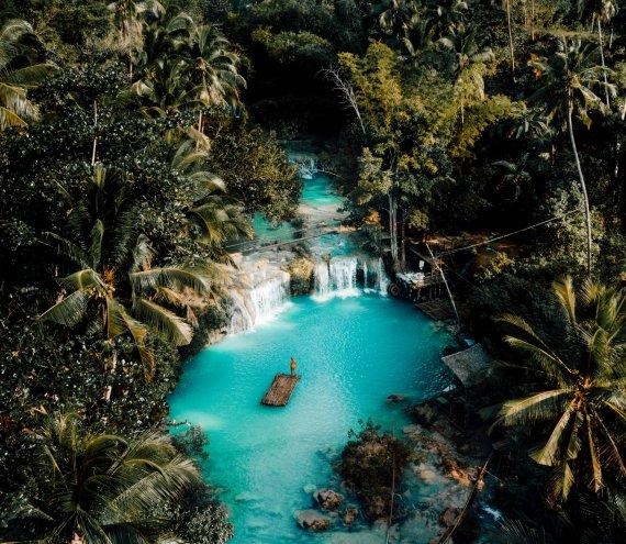 Der Cambugahay Wasserfall
