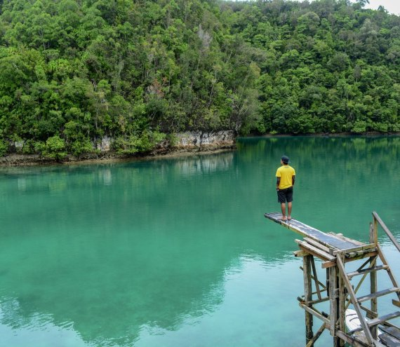 Die Sugba Lagune